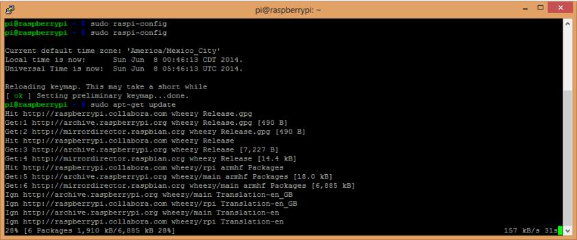 Actualizando Raspbian