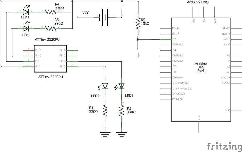 Circuito para las luces del robot