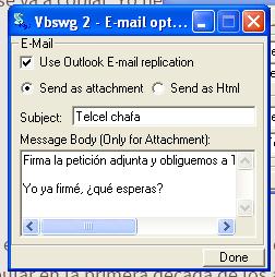 Opciones de Mail